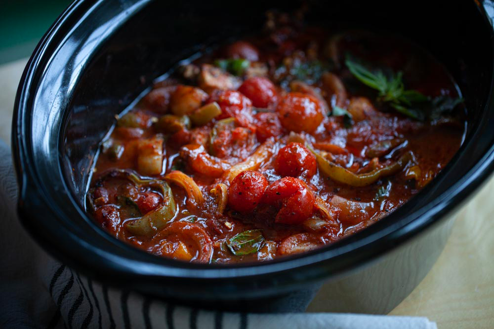 How to Make Chicken Cacciatore in a Crock-Pot