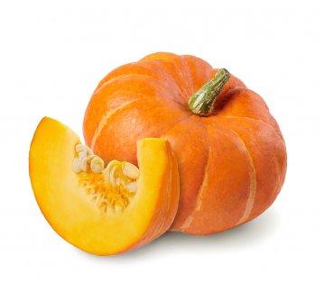 A ripe orange pumpkin