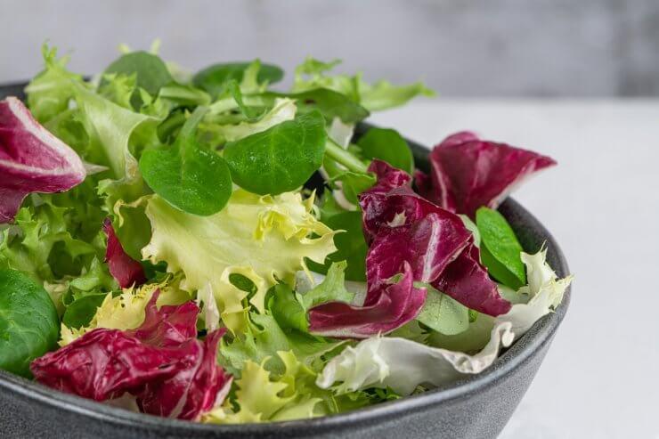 Salad mix leaves