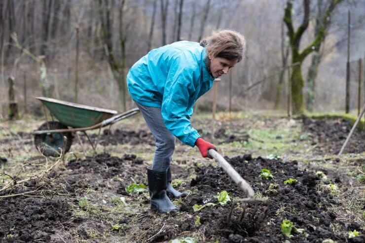 Woman Digging Up Dirt