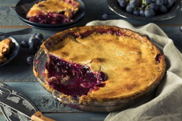 Grape and Pear Pie.