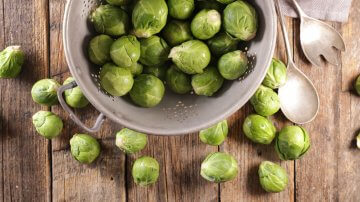 Brussels sprouts, freshly harvested