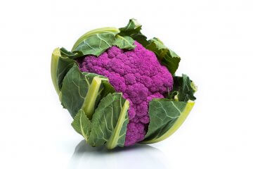 Depurple hybrid cauliflower
