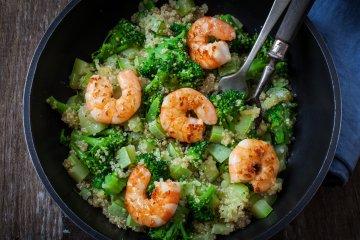 Quinoa Bowl with Shrimp