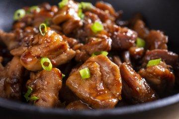 Stir Fry Chicken with Scallions