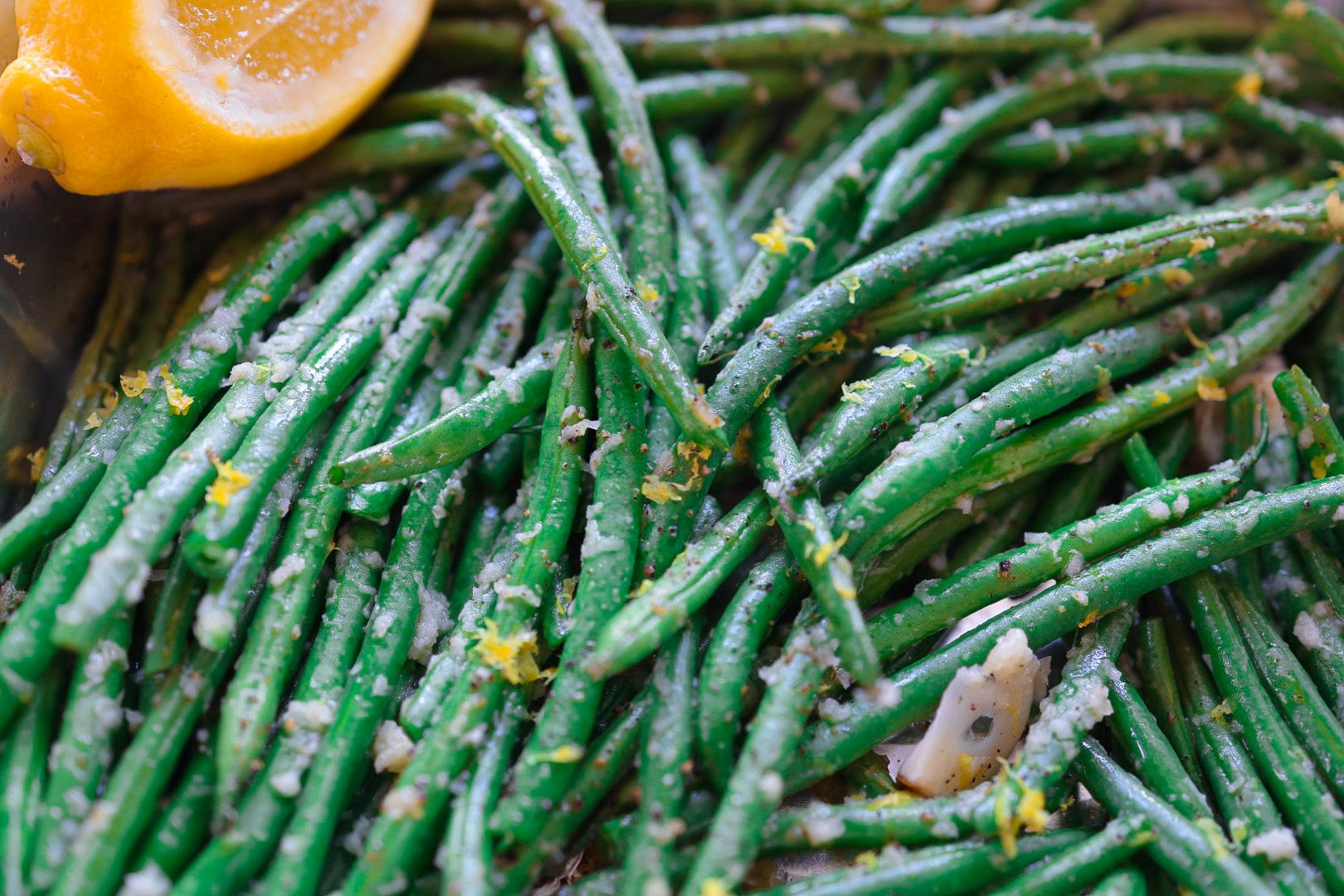 lemon-garlic green beans recipe