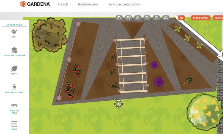 Gardena Vegetable Garden Planner Apps