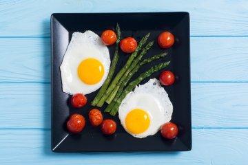Sheet Pan Eggs with Asparagus