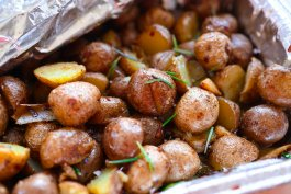 Oven-Roasted Potatoes and Onions with Rosemary