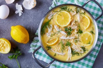 Lemon Chicken Soup with Rice, Orzo, or Couscous