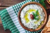 Greek yogurt and dill tzatziki