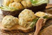 Parmesan Chive Drop Biscuits
