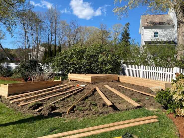 Diy raised garden beds on a slope